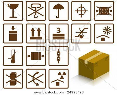 Verpackung-Symbole