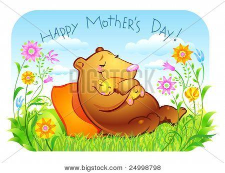 Mutter 's Tag, Mutter und Kind, sehr schöne und leichte