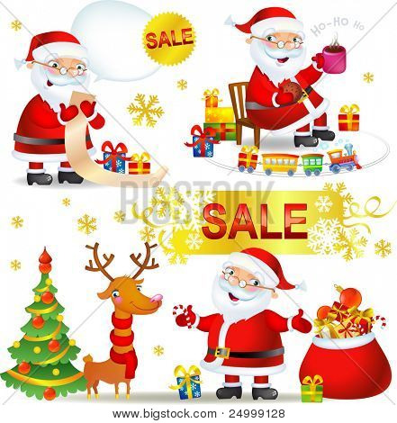 Set Christmas SALE with Santa