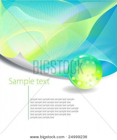 Green Abstract Background with free space for text, Vector illustration