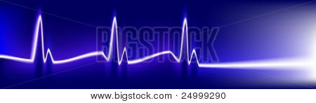 Cardiology test. Electrocardiogram monitor with cardio beat