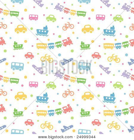 Seamless Pattern Toy transport