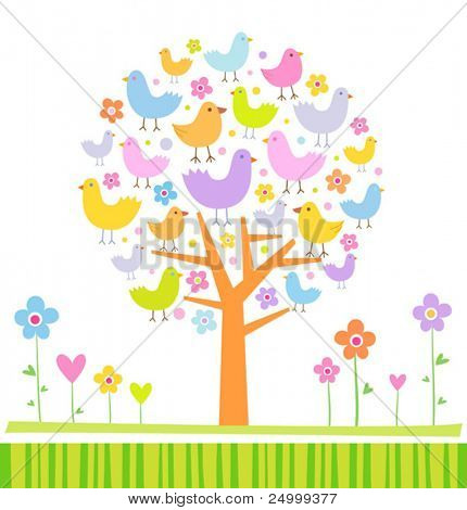 Birds on a tree