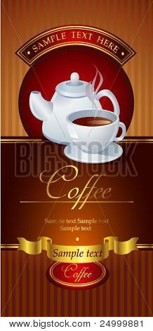 Coffee vector banner
