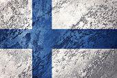 Grunge Finland Flag. Finland Flag With Grunge Texture. poster