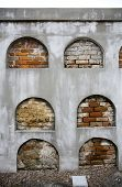 stock photo of burial-vault  - Above ground burial vaults in an historic New Orleans cemetery - JPG