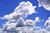 The Vast Blue Sky And Clouds Sky. poster