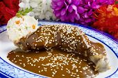 picture of poblano  - Mexican Chicken Mole - JPG