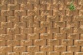 Stone Wall Background, Stone Texture, Rough Surface Of Stone, Close-up Of Blocks In The Masonry, Par poster