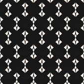 Elegant Geometric Seamless Pattern. Abstract Monochrome Background With Curved Shapes, Rhombuses, Fe poster