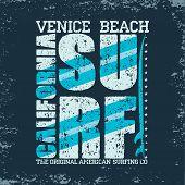 Vector Illustration, T-shirt  Surfing California, Graphic Print Design, Surfers Print Stamp, Surf Ap poster
