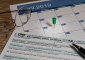 New Form 1040 Simplified For 2018 Allows For Filing On April 15, Tax Day, On A Postcard poster