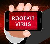 Rootkit Virus Cyber Criminal Spyware 2D Illustration poster
