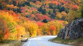 Scenic drive through New England country side poster