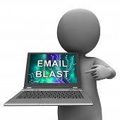 Email Blast Newsletter Promotion Delivering 3D Rendering poster