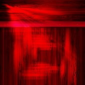 Red Abstract Background With Outline Of Skin Boards, Billboard With Bright Light And Rivets. poster
