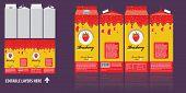Branding Package Design. Strawberry Juice Package Box Design Template. Ready Package Design For Juce poster