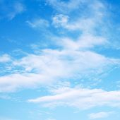 image of clouds sky  - Blue sky with clouds - JPG