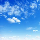 picture of cumulus-clouds  - Blue sky with clouds - JPG