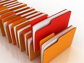 stock photo of file folders  - folders - JPG