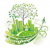 Постер, плакат: Зеленый город