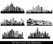 The best vector City silhouettes. Set.