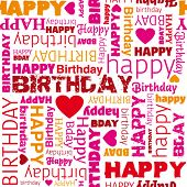 image of happy birthday  - Happy birthday wrapping paper seamless pattern in vector - JPG