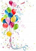 pic of helium  - party balloons with space for text - JPG