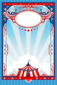 stock photo of marquee  - Circus poster with space for text - JPG