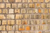 The Texture Of The Wall Of Stone. Masonry. Stonewall Wallpaper. poster