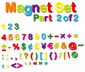 picture of verbs  - Vector Magnets Set  - JPG
