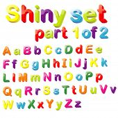 stock photo of verbs  - Vector Shiny Magnets Set  - JPG