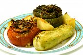 stock photo of greek food  - Greek stuffed tomatoes - JPG