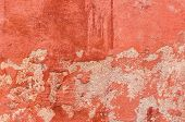 Texture Of Old Paint Close-up. Wall Background With Shabby Paint. poster