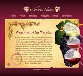 Website template for wine producers, eps10