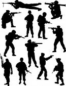 picture of snipe  - Soldiers silhouettes - JPG