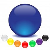 balls in eight colors