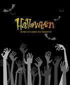 stock photo of corpses  - Halloween greeting card or Party Invitation - JPG