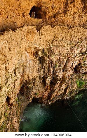Cenote Zaci A Limestone In Valladolid, Mexico.
