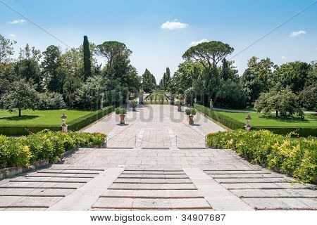 View From The Main Entrance Of Villa Emo