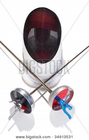 Fencer Sword And Mask