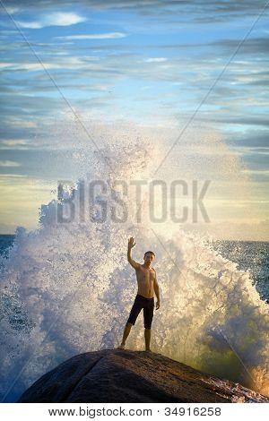 Man Like A God Of The Sea