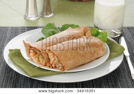 Gourmet salmón envuelve