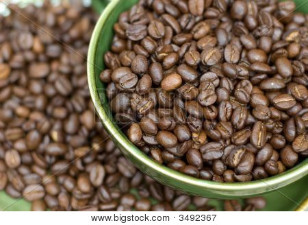 Close Up Coffee Beans Cup
