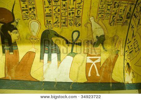 Ancient Egyptian Gods mural