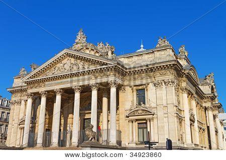 Brussels Stock Exchange in Belgium