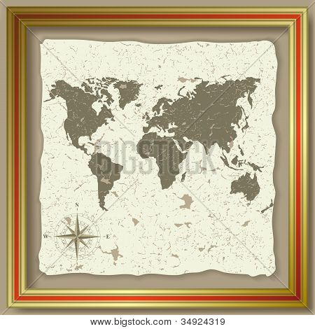 Abstract Background With Olden Map