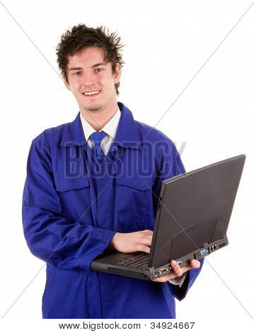 Worker With A Laptop