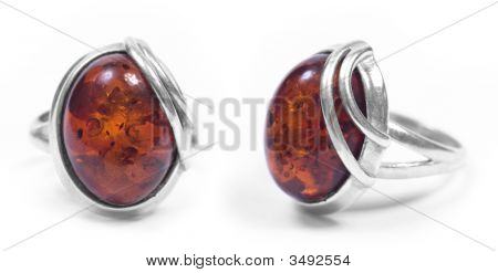 Amber Ring Front And Profile