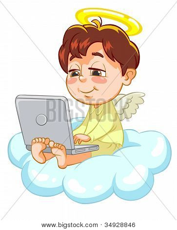Ilustración del vector de un ángel.